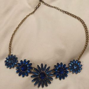 Jewelry - Blue Gold Flower Necklace